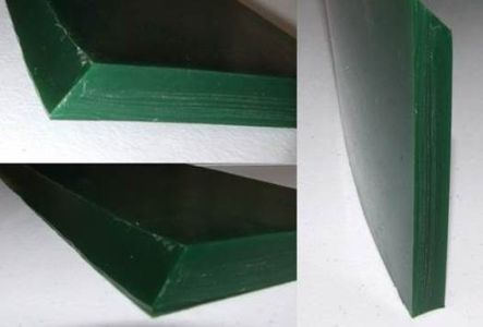 polyurethane skirting showing beveled edge